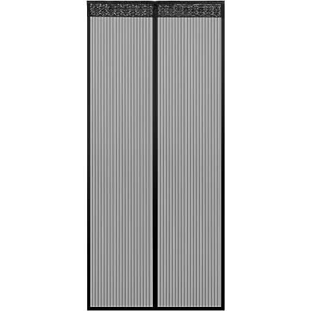 Schwarz Insektenschutz Without Drilling Fliegennetz Vorhang AMCER Magnetischer Fliegenvorhang 70x180cm F/ür Balkont/ür Terrassent/ür Kellert/ür Wohnzimmer