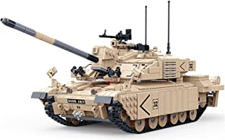 Technic Tank Building Set, UK FV 4034 Challenger 2 Military Tank Model Construction Set, 1460 Pieces Blocks and 4 Mini Fig...