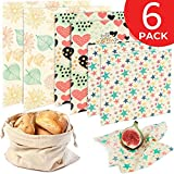 Reusable Beeswax Food Wrap 6 Pack – 2L, 2M, 2S...