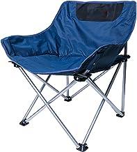 Picknickstoel, klapstoel voor buiten, draagbare viskruk met rugleuning, strandstoel, campingstoel