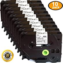 NEOUZA Compatible with Brother TZe231 10 Pack P Touch Label Tape Black on White 12mm(0.47 Inch) x 8m (26.2ft)