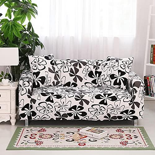 WXQY Estirar la Funda de sofá Rosa Impresa con Todo Incluido para la Sala de Estar, el sofá en Forma de L de Esquina segmentada Necesita Comprar 2 Piezas A4 4 plazas