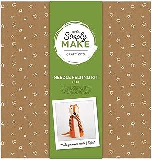 Docrafts Simply Make Gift Sewing Craft Kit - Needle Felting Kit - Large Fox