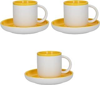 Rosa 100 ml Les Artistes Paris Juego de 2 Tazas de caf/é de Porcelana de Silicona Proctector
