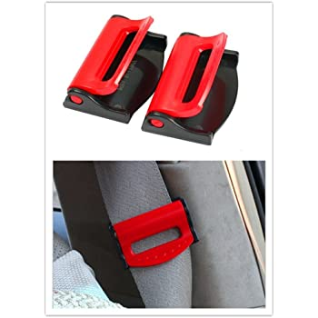 Slide Universal 6-pk Prevents Sense of Choking While Driving or Riding in Cars Lock and Go GRC - Relieves Irritation Seat Belt Tension Adjuster