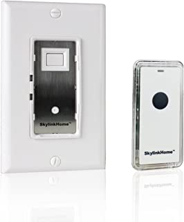 SkylinkHome WE-318 In-Wall ON/OFF Lighting Switch Receiver with Wireless Snap On Transmitter for Home Automation and Control (1000 Watts)