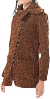 Macondoo Women Plus Size Oblique Zipper Sweatshirt Casual Winter Fleece Coat Jackets