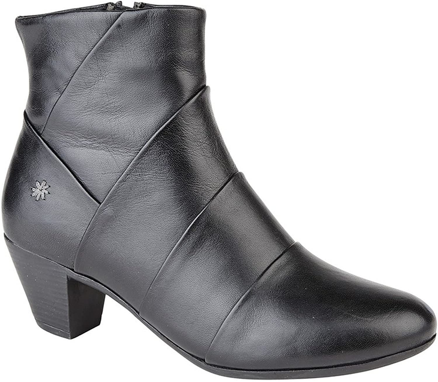 Cipriata Womens Ladies Ginerva Folded Vamp Ankle Boots