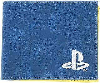 Difuzed Playstation – Icons AOP dubbelvikt plånbok, blå, 16 cm