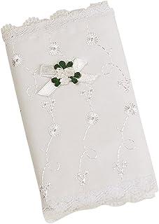 Elegant Baby  White  Eyelet Covered Heirloom Bible