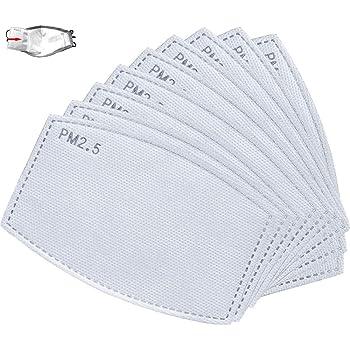 100 piezas de filtro de carbón activado PM2.5 almohadilla de filtro antipolvo reemplazable para tapa bucal