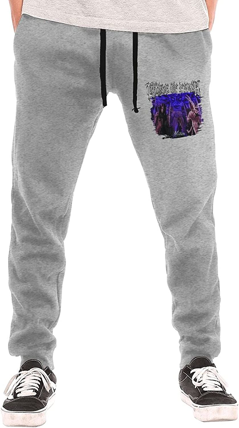 RandyDPeter Cradle of Filth Midian Man's Sweatpants Cool Jogger Pants Long Pant with Pocket for