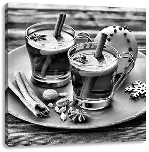 Aromatische Glühwein met kaneelCanvas Foto Plein | Maat: 40x40 cm | Wanddecoraties | Kunstdruk | Volledig gemonteerd
