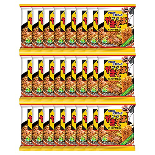 Sapporo Ichiban Chow Mein Yakisoba, 3.60 Ounce (Pack of 24)