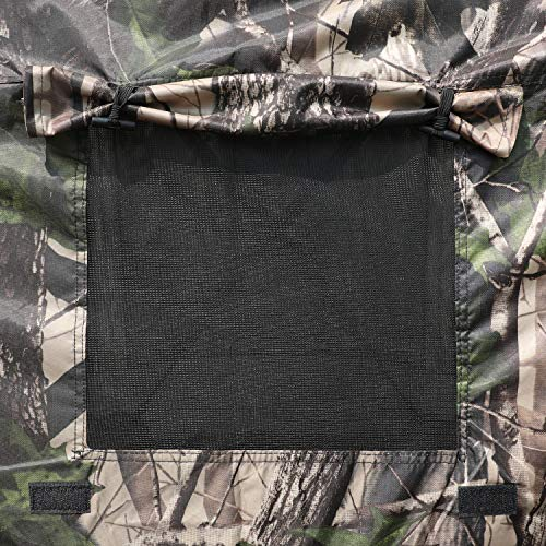 MASTERCANOPY Escape Shelter Side Panel with Window (120x120,Camouflage)