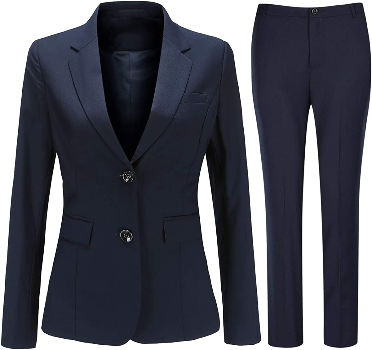 Women 2 Piece Suit Set Work Two Office Button Max 68% OFF Blazer Memphis Mall Jacket and