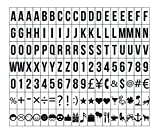Ai-life 126 Stück DIY Dekorativ Schwarze Buchstabe-Karte Emojis Zahlen Symbole und Zeichen...