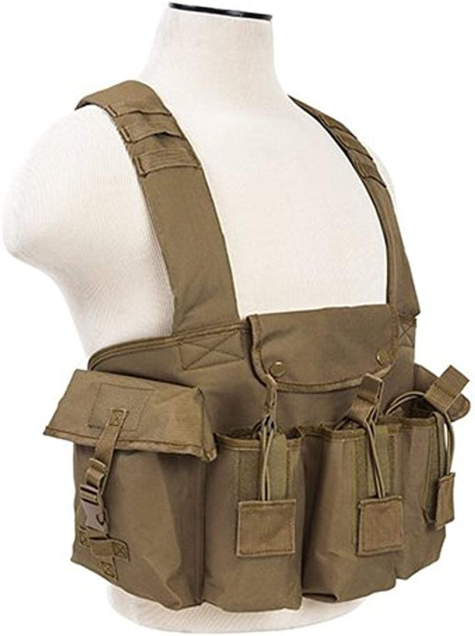 Details about  /NcStar VISM TAN Tactical MOLLE Operator Plate Carrier Body Armor Chest Rig SM