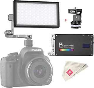 Boling BL-P1 RGB LED Video Light, Compact Dimmable 2500-8500K Full Color Bi-Color Filmmaking Lighting for Canon Nikon Sony A6400 Cameras YouTube Vlog Creative 9 Applicable Situation, 360° Adjustable
