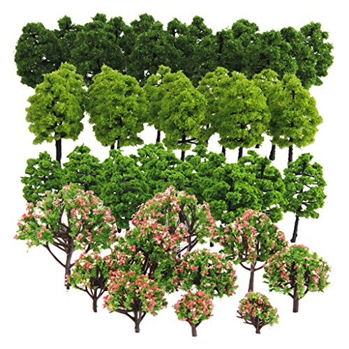 Baoblaze 70pcs Mixed Model Tree,...