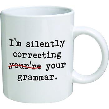 Preschool Man High School Teacher Cup. Perfect/Gift for Teachers Funny Guy Mugs Women Elementary Im Silently Correcting Your 11 oz Coffee Mug
