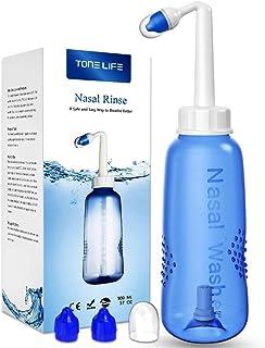 TONELIFE 500ML Nose Rinse Kit - Neti Pot - 18oz Adult Child Nose Cleaner - Nasal Wash Cleaning & Sinus Irrigation System -...