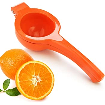 New Star Foodservice 42863 Enameled Aluminum Orange Squeezer, Orange
