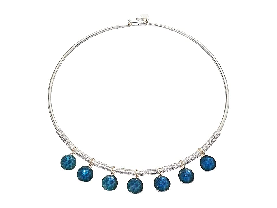 Robert Lee Morris - Robert Lee Morris Faceted Bead Frontal Round Wire Necklace