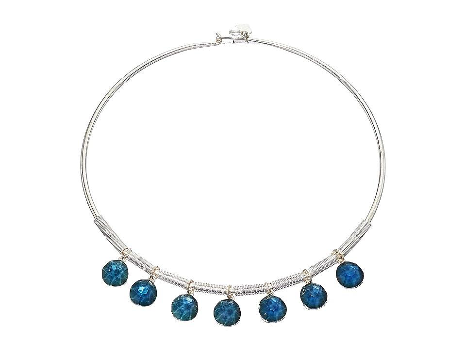Robert Lee Morris - Robert Lee Morris Faceted Bead Frontal Round Wire Necklace