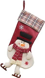 Padaleks Candy Socks Gifts Bag Christmas Stockings Cute Santa Claus Snowman Elk Plush 3D Applique Decor Hanging Loops