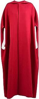Halloween Party Women Handmaid Red Cape Dress Costume