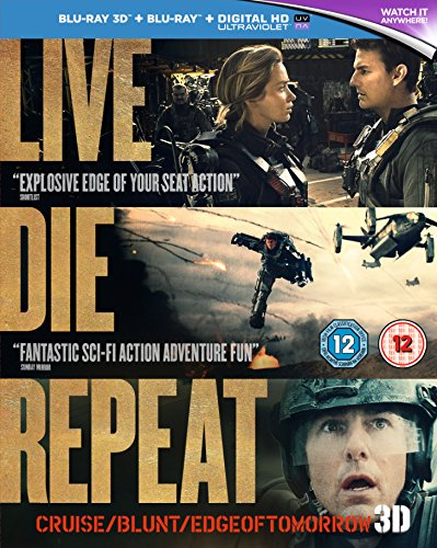 Live Die Repeat: Edge of Tomorrow [Blu-ray 3D + Blu-ray] [2014] [Region Free]