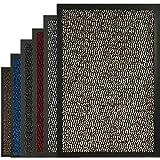 BLADO Barrier Mat Non Slip Door Mat Rubber Mats Floor Mats Kitchen Rugs Washable Light Weight Rubber Multi Color And Sizes Heavy Duty (Brown, 40cm x 60cm)