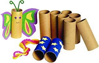 Colorations Recycled Craft Rolls, Cardboard, Sturdy, Set of 24, Tubes, DIY Crafts, Arts & Crafts, Project, Multi-Purpose, Open-Ended