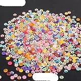 2-6mm 1000Pcs Diamantes de imitación Crystal Clear AB Non Flatback Nail Rhinestoens para ropa Uñas 3D Nail Art Decoration-AB Colorful, 4mm, 1000Pcs
