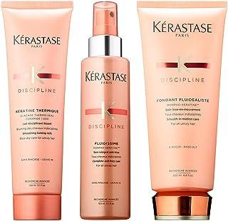 Discipline Set Of 3 For Frizzy Hair Includes Keratine thermique 5.1 Oz, Fluidissime 5.1 Oz & Fondant Fluidealiste 6.8 Oz, 3 Count (Pack of 1)
