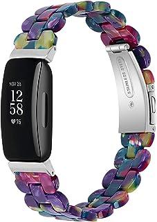 KangPlus Bracelets de rechange pour Fitbit Inspire 2, pour homme et femme en résine fine avec boucle en acier inoxydable, ...