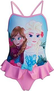 9e97686859d3 Disney Frozen - Costume Intero con Volant Mare Piscina - Full Print - Elsa  e Anna