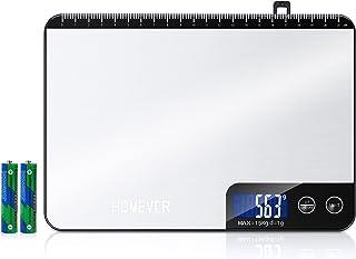 Balance de Cuisine Electronique, HOMEVER 15kg/33lb Balance Alimentaire en Acier Inoxydable de Haute Qualité, Précision1g, ...