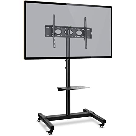Rfiver Mobile Tv Stand Height Adjustable Tilt For Amazon Co Uk Electronics