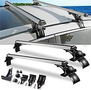 Ai CAR FUN Black Universal Roof Rack Cross Bar Top Roof Rail Luggage Cargo Rack Rails Carrier Rack Frame for Car SUV Pickup Truck