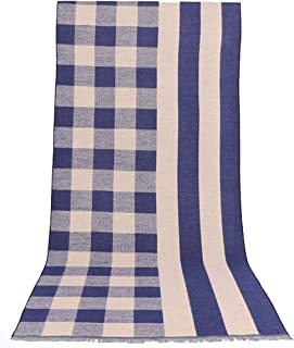 Runtlly Men's Winter Scarf Soft Knit Scarve Classic Cashmere Feel Scarves Unisex