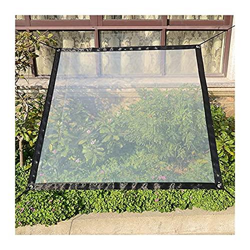 AWSAD Lona transparente impermeable transparente de alta transparencia para muebles de jardín, piscina (color transparente, tamaño: 2 x 7 m)