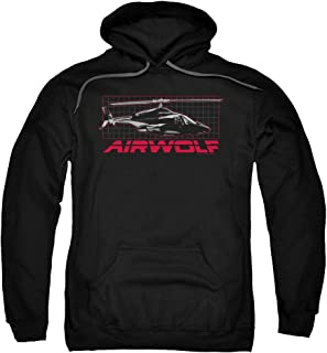 Airwolf Helicopter Military Action TV Series Grid Adult Pull-Over Hoodie