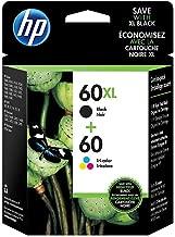 HP 60XL Black 60 Tricolor Original Ink Cartridges (N9H59FN), Pack of 2