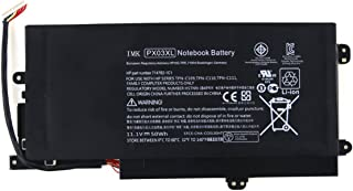 IMK PX03XL Battery [Li-ion,11.1V/50Wh],New Replacement Battery for HP Envy 14 Sleekbook, Envy 14 M6-K TOUCHSMART M6 Series 715050-001 714762-1C1 TPN-C109 TPN-C110 TPN-C111 Series,PX03XL/Black