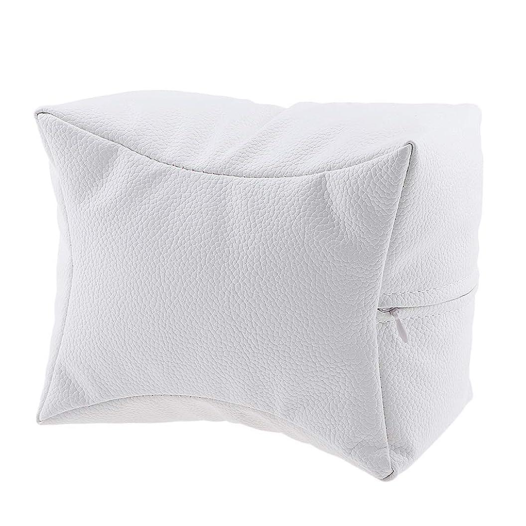 アノイ市長第二にP Prettyia ネイルハンドピロー プロ ネイルサロン 手枕 レストピロー ネイルケア 4色選べ - 白