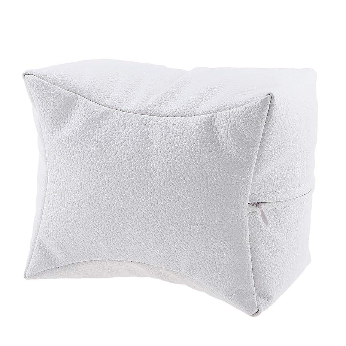 教会安息操縦するP Prettyia ネイルハンドピロー プロ ネイルサロン 手枕 レストピロー ネイルケア 4色選べ - 白