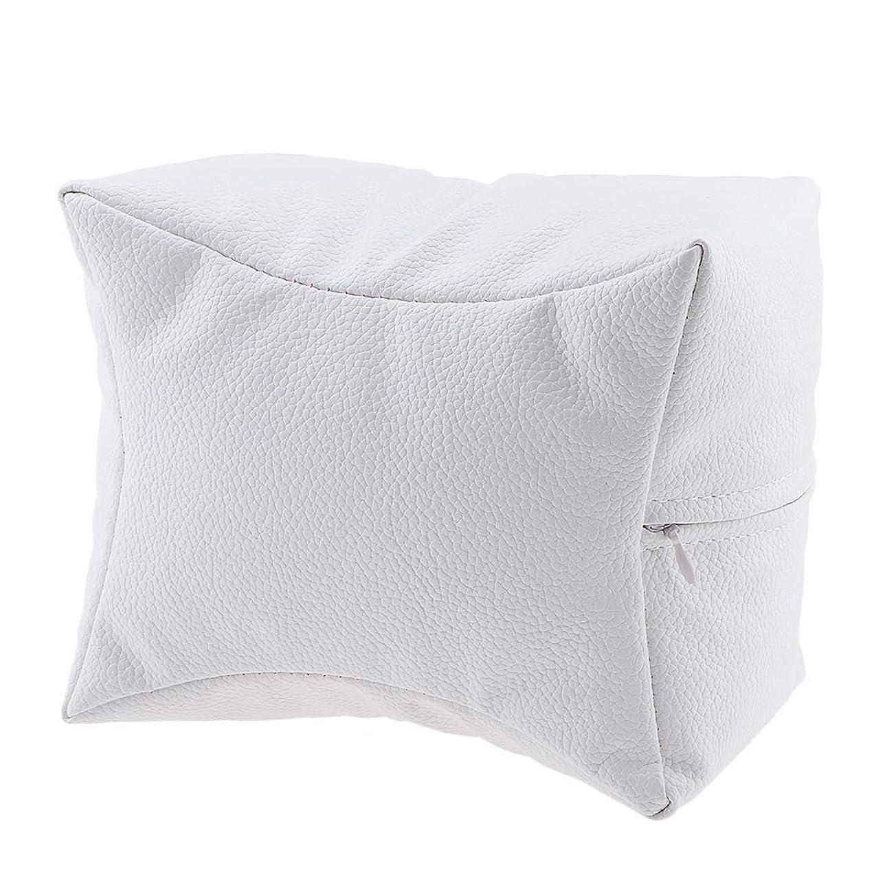 矢ペナルティ花P Prettyia ネイルハンドピロー プロ ネイルサロン 手枕 レストピロー ネイルケア 4色選べ - 白