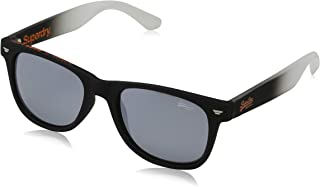 Superdry Unisex Sunglasses -rubberised black - solid smoke with silver flash - SDSUPERFARER-104 - size 50-19-145mm